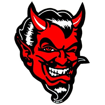 Large devil decal