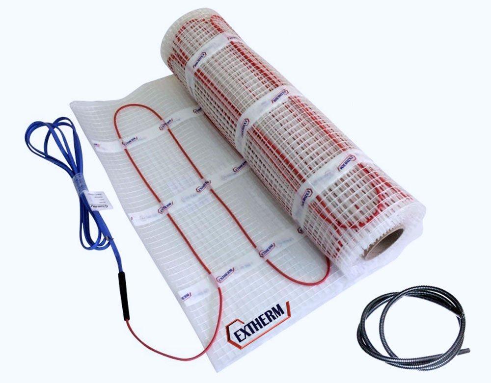 TWIN Câ ble EXTHERM de chauffage pour le chauffage é lectrique par le sol-150w / 12m² - Installation - Chaleur confortable partout dans votre lieu- Solutions d'é nergie renouvelable