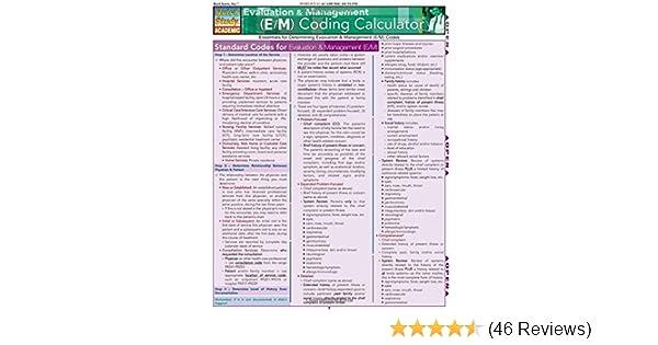 Evaluation management em coding calculator quickstudy evaluation management em coding calculator quickstudy academic 9781423203759 medicine health science books amazon fandeluxe Images