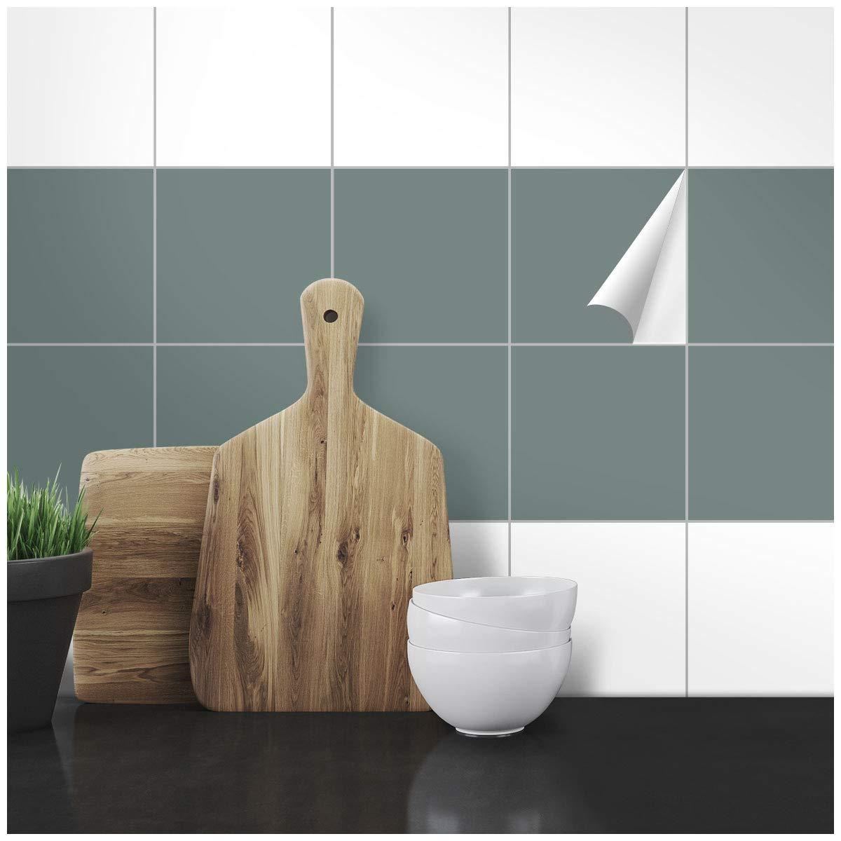 Wandkings Fliesenaufkleber - 14,8 x 14,8 cm, 300 Stü ck fü r Fliesen in Badezimmer, Kü che & mehr