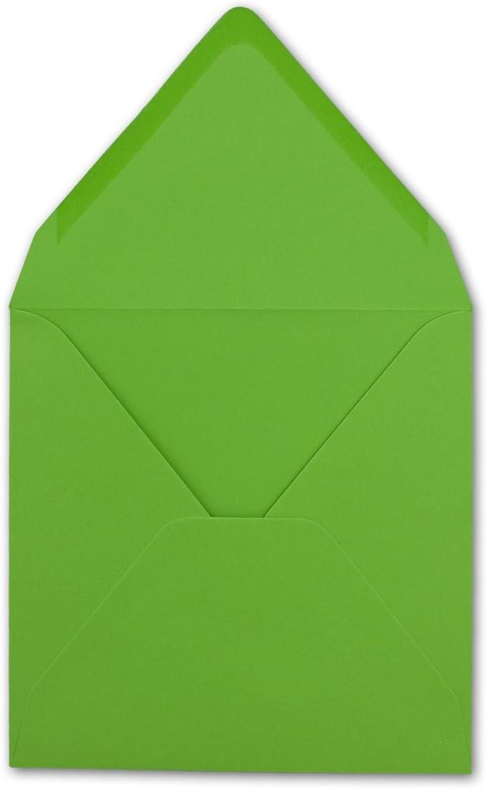 Quadratisches Falt-Karten-Set I 15 x 15 cm FarbenFroh/® von Gustav NEUSER/® mit Brief-Umschl/ägen /& Einlege-Bl/ätter I Hellgr/ün I 50 St/ück I KomplettpaketI Qualit/ätsmarke