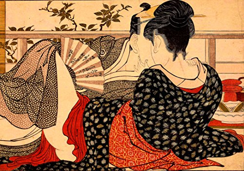 Shunga PRINTS Shunga POSTER A3 Painting Japanese Erotic Art Oriental Wall decor Antique Repro Decal