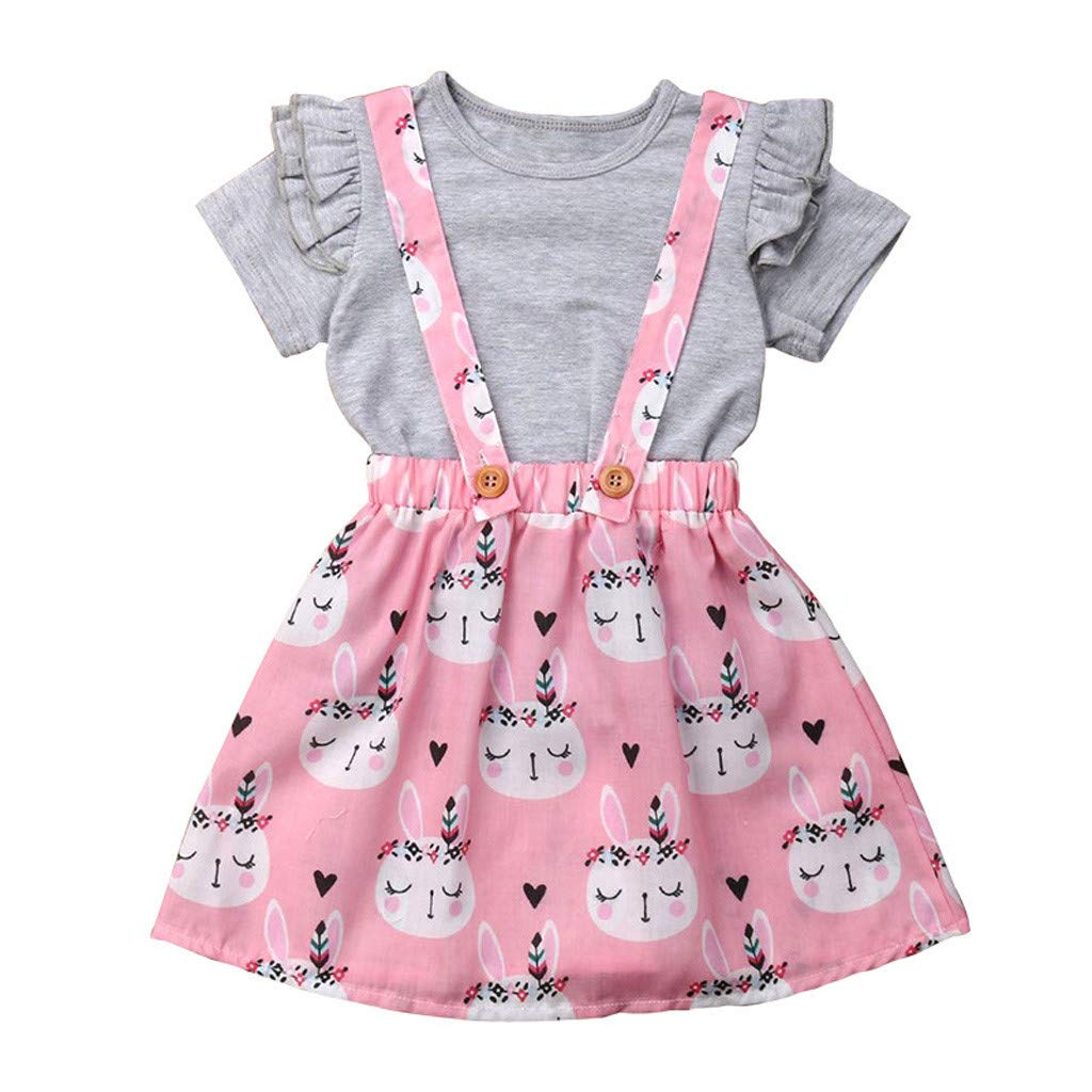f9c7c613619ce Amazon.com: ❤ Mealeaf ❤ Kids Baby Girl Easter T Shirt Tops ...