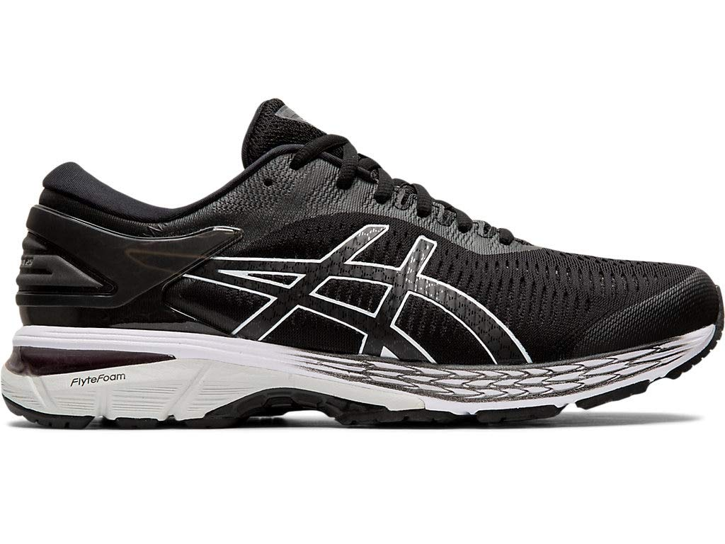 ASICS Men's Gel-Kayano 25 Running Shoes, 10M, Black/Glacier Grey