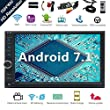 Android 7.1 32GB 2GB Car Stereo Radio with Octa Core Bluetooth GPS Navigation Support Fastboot WiFi MirrorLink USB SD Backup Front Camera 7¡± 1024600 Capacitive Touchscreen Double Din + FREE Dual Cam