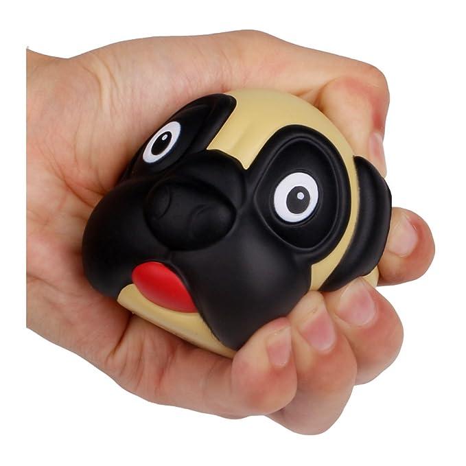 Amazon.com: aikemi lindo perro carlino Animal Face Squishy ...