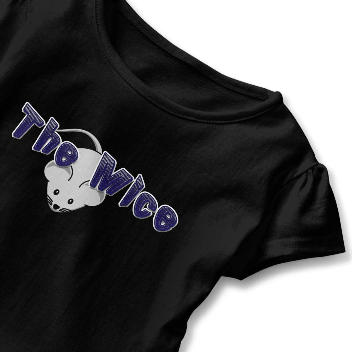JVNSS The Mice Shirt Soft Toddler Girls Flounced T Shirts Graphic T-Shirt for 2-6T Baby Girls