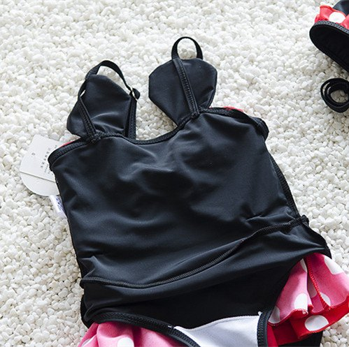 WINZIK Baby Girls Toddler Swimwear Cute Polka Dots Bowknot One Piece Swimsuit Beachwear Sunsuit Bathing Suit Hat