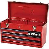 """Craftsman 21"""" 3-Drawer Ball Bearing Slides Portable Toolbox Red"""