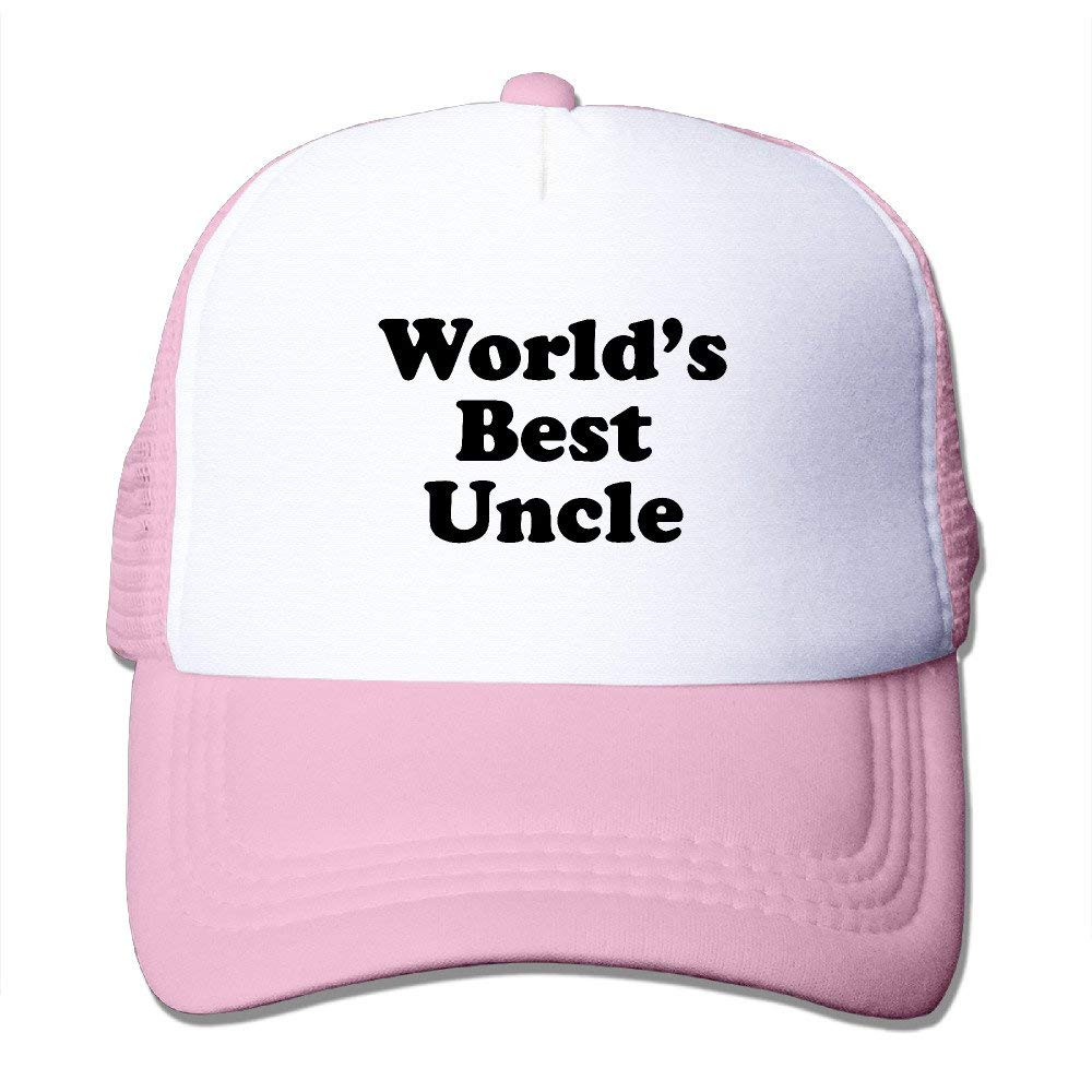 Worlds Best Uncle Adjustable Hat RoyalBlue Outdoor Gift for Men and Women 21.65-23.23inches