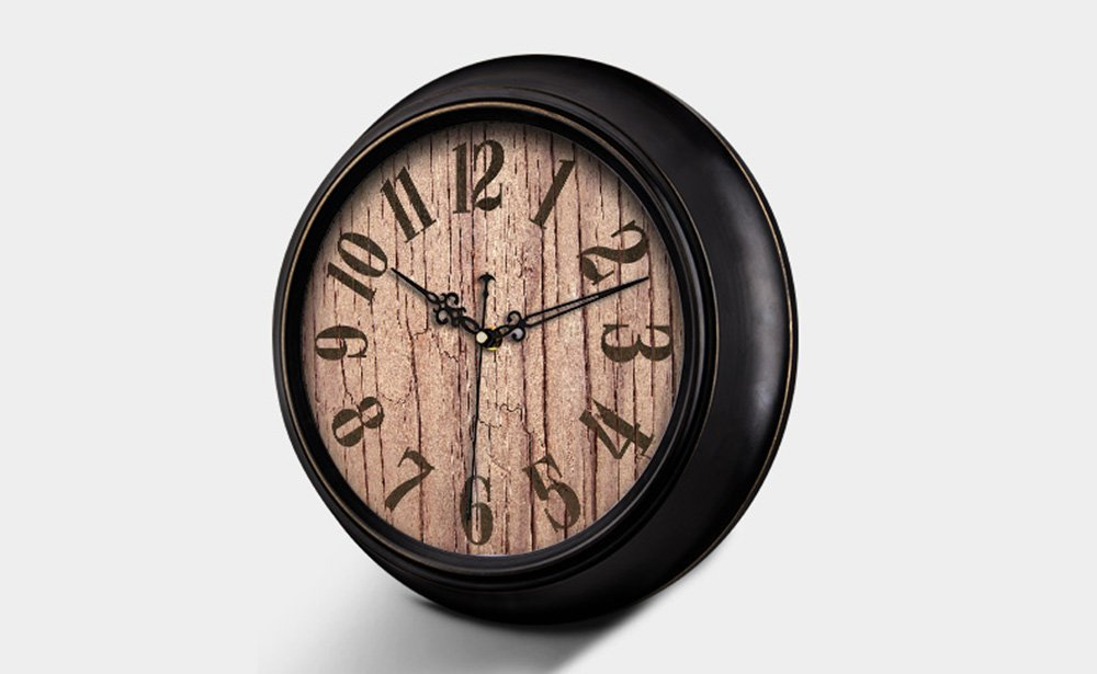 HAOFAY Mute Wall Clock, Vintage Pattern Arabic Numerals Round Clock (vintage) ( Size : 16 inches/40 cm ) by CLOCK (Image #5)