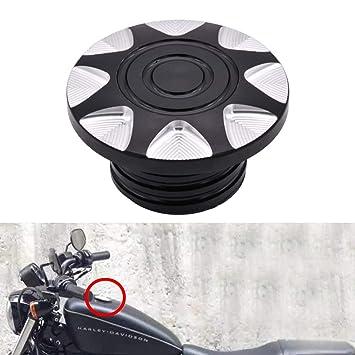 NATGIC 6061-T6 - Tapón de aceite de aluminio para motocicleta, cromo, CNC, para Harley Sportster XL883 XL1200 1996-2018: Amazon.es: Coche y moto