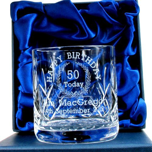 50th Birthday Whisky Glass For Him Personalised Gifts