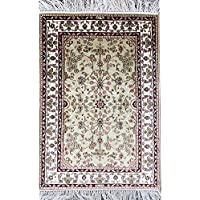 Yilong 2x3 Small Handmade Persian Rugs Traditional Oriental Silk Carpet