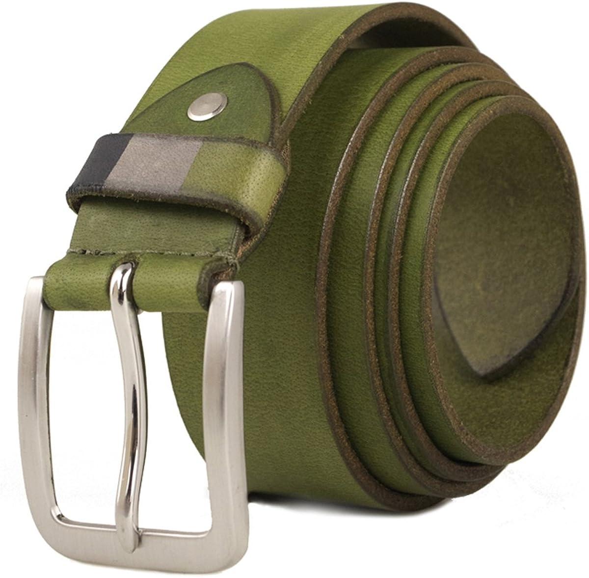 Zerimar Cinturón Piel de Hombre | 4 cm Ancho | Cinturón Hombre Cuero | Cinturón Hombre Hebilla | Cinturón Piel | Cinturon de Cuero