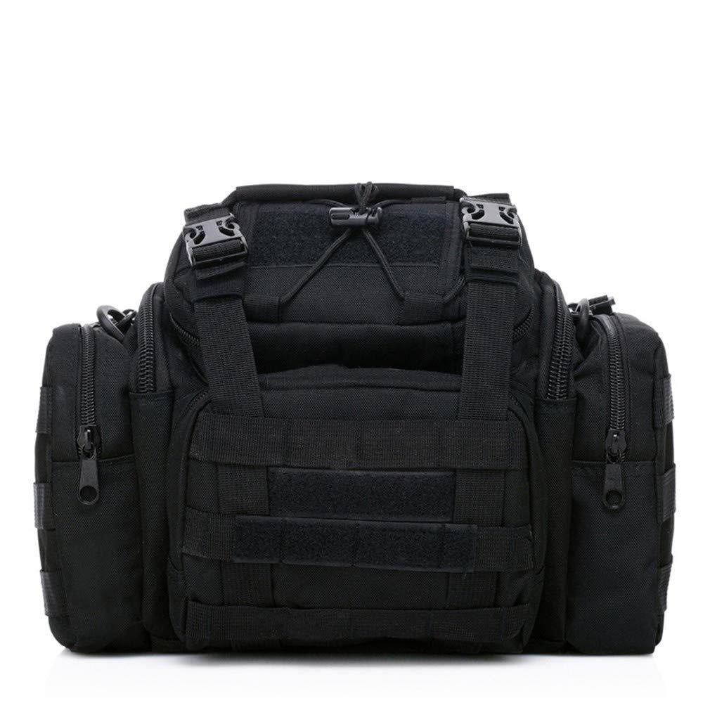 IYFGW Messenger Waterproof Multifunction Crossbody Bag Men Military Army Outdoor Large Shoulder Travel Bags Style D
