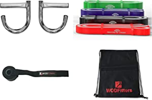WODFitters Home Gym Kit with Titanium 4 Band Set, Home Gym Handles, Door Anchor and Carrying Bag