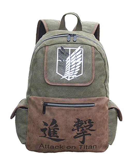 Anime One Piece Backpack Schoolbag Canvas Luminous Satchel Laptop Bag Cosplay