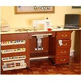 Arrow Norma Jean Sewing Machine Storage Cabinet, Cherry