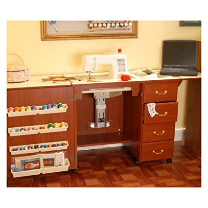 Arrow Norma Jean Sewing Machine Storage Cabinet Cherry & Amazon.com: Arrow Norma Jean Sewing Machine Storage Cabinet Cherry ...