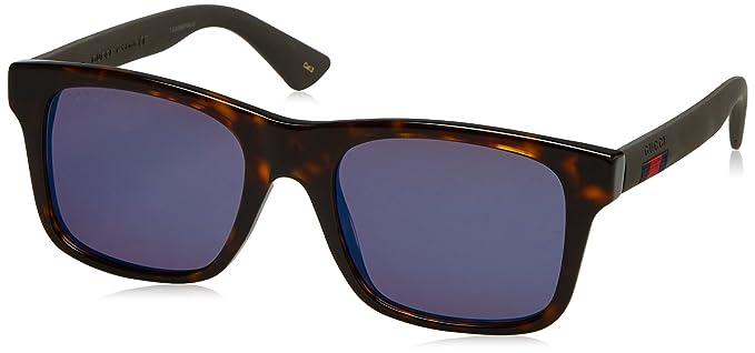 f3a5a7b537 Gucci Men s Polarized GG0008S-003-53 Tortoiseshell Square Sunglasses ...