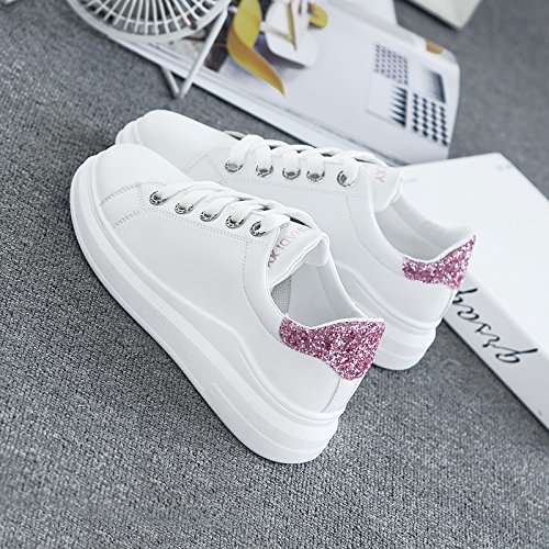 spessa scarpe Scarpe scarpe molla Wuyulunbi sportive Calzature Polvere Bianca qtBU7U54xw