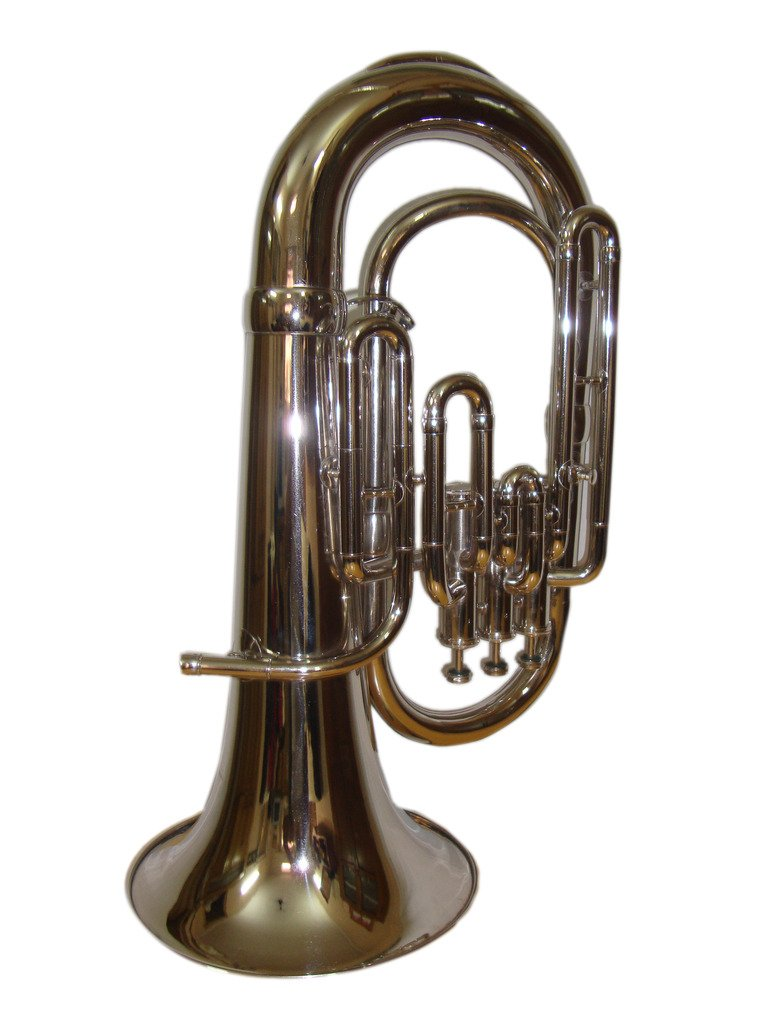OSWAL Bb Flat Silver Nickel Euphonium With Free Hard Case+Mouthpiece
