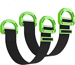Adjustable Lifting Moving Straps,Furniture Moving Straps for Boxes, Mattress, Construction Materials, or Other Heavy, Bulky, or Awkward Objects,Single or Two Person Carrying,(2 Pack)