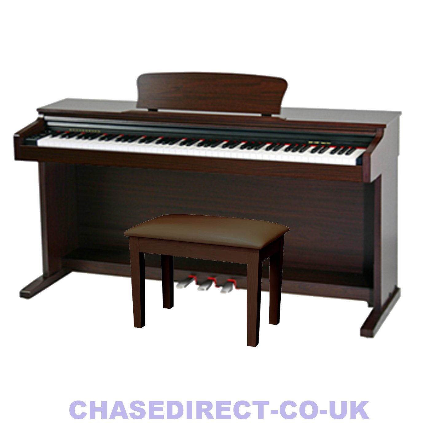 Chase CDP 245BR Digital Piano Colour Brown Rosewood FREE PIANO