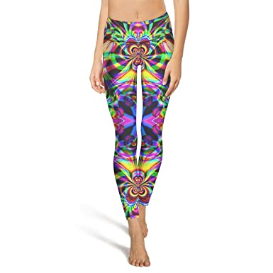 3676f94a2f8 Amazon.com: Women's Yoga Leggings with Pocket Spiral Psychedelic ...