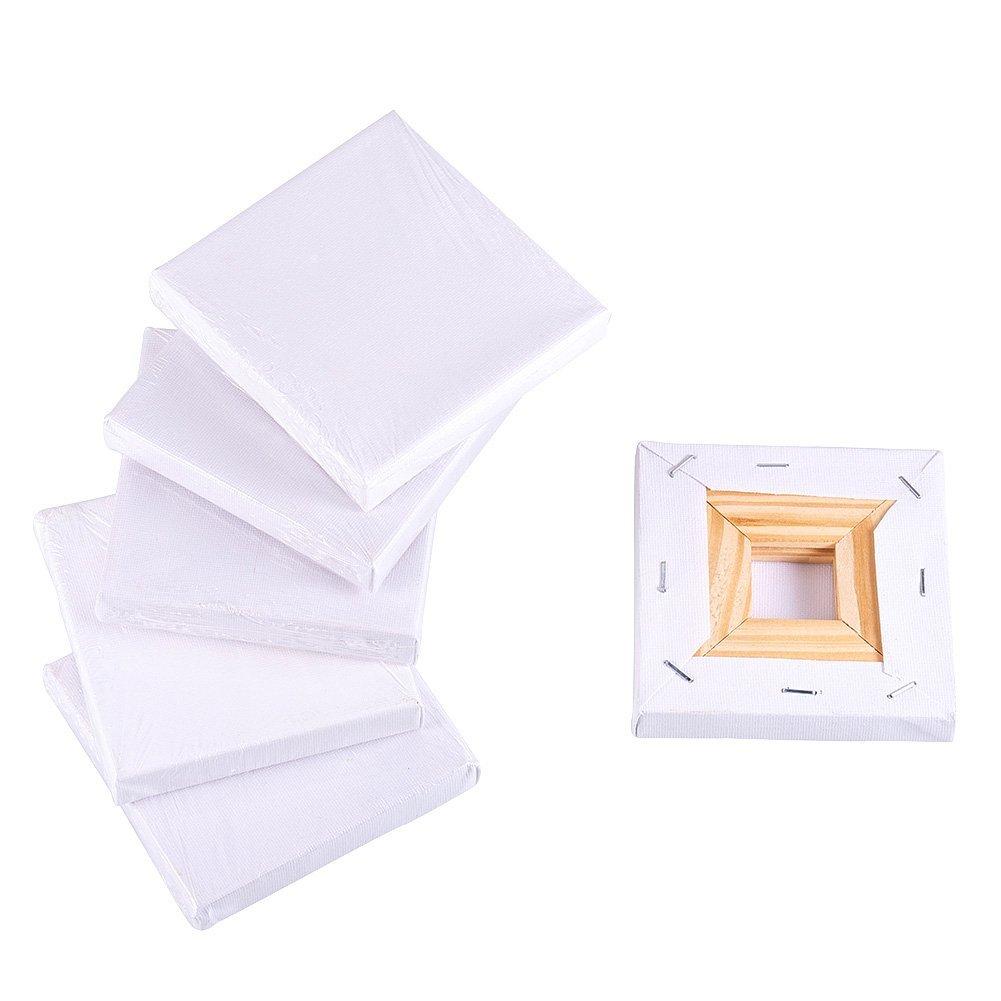 NBEADS 6 pz 10 x 10 cm mini pannello canvas painting Craft piccolo in legno Sketchpad tavolo da disegno per pittura Craft disegno decorazione regalo e bambini 'learning istruzione