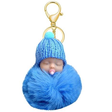 Muñeca bebé con chupete colgante puerta coches llavero ...