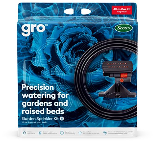 Scotts GRO Garden Sprinkler Kit Watering | Reduces Water Waste | Water Multiple Plants at The Same Times with One-to-Many Precision Watering