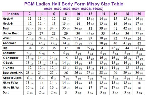 Pgm Professional Dress Form Sewing Mannequin Tailor Dummy