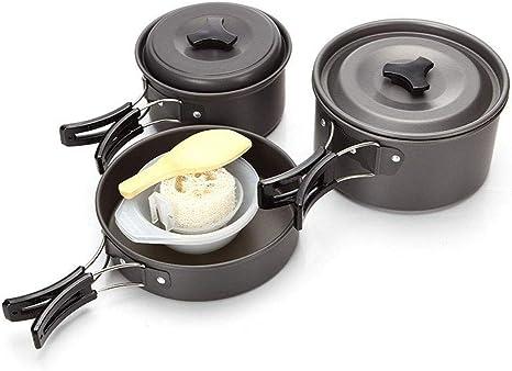 WYYHAA Utensilios Cocina Camping Kit de Aluminio Ligero Que ...