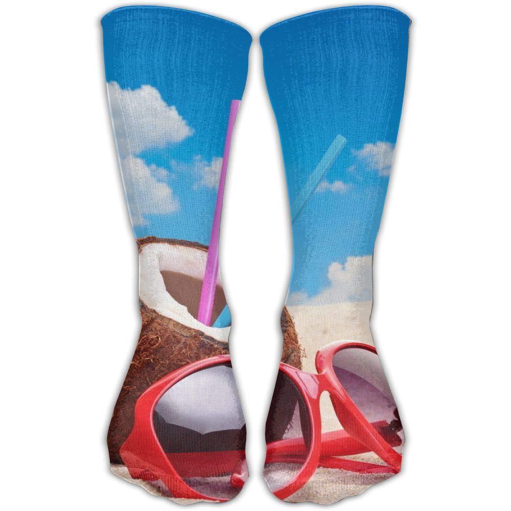 Protect Wrist For Cycling Moisture Control Elastic Sock Tube Socks Beach Starfish And Coconut Athletic Soccer Socks
