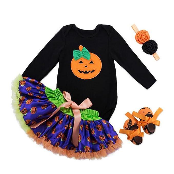 Bambina Set Vestito - Neonato Ragazza Maniche Lunghe Pagliaccetto con Fascia  Abiti Costume per Halloween Natale Feste Partito 3PCS  Amazon.it   Abbigliamento b055605b86c