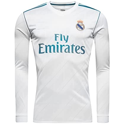 Marex Men s Real Madrid Home Long Sleeve Football Jersey  Amazon.in   Sports 8b8c83525
