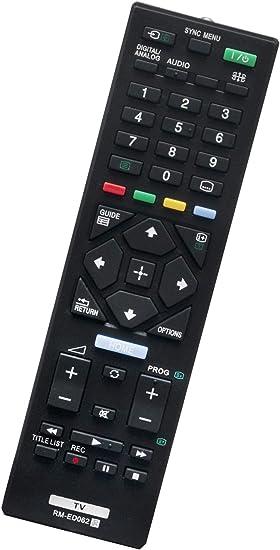 ALLIMITY RM-ED062 Mando a Distancia reemplazado por Sony Bravia LED LCD Smart TV KD-43XE7077 KD-49XE7077 KDL-32R424A KDL-32R430B KDL-32RE405 KDL-40R353C KDL-40R483B KDL-40R485B: Amazon.es: Electrónica