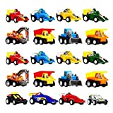 DIMY Toys for 3 4 5 Year Old Boys, Mini Pull Back Vehicles 20 Pack Play Set Toys Cars for Kids Boys Toys Age 3-6 Year Old Boy Gifts Pull01