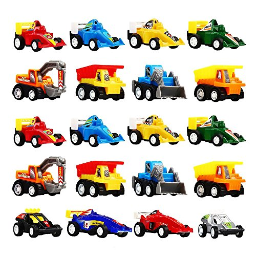 DIMY Toys for 3 4 5 Year Old Boys, Mini Pull Back Vehicles 20 Pack Play Set Toys Cars for Kids Boys Toys Age 3-6 Year Old Boy Gifts -