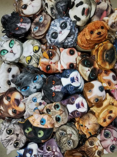 Mixed Assorted Variety & Characters Cats & Dogs Coin Change Purse Pouch ~ Buyer Will Receive Any 5 ~ US Seller~