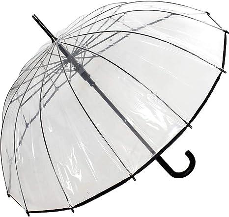 Transparent Automatik Damen Schirme Regenschirm Stockschirm in Tupfen