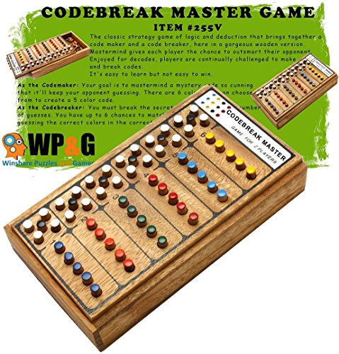Codebreak Mater Mind Game Top Strategy Wooden Board games for kids and adults