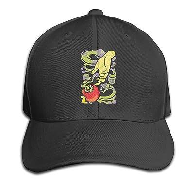 Amazon.com  LONGAO Poisoned Apple And Hand Top Level Baseball Cap Hat Men  Women - Classic Black  Clothing adc664bf754