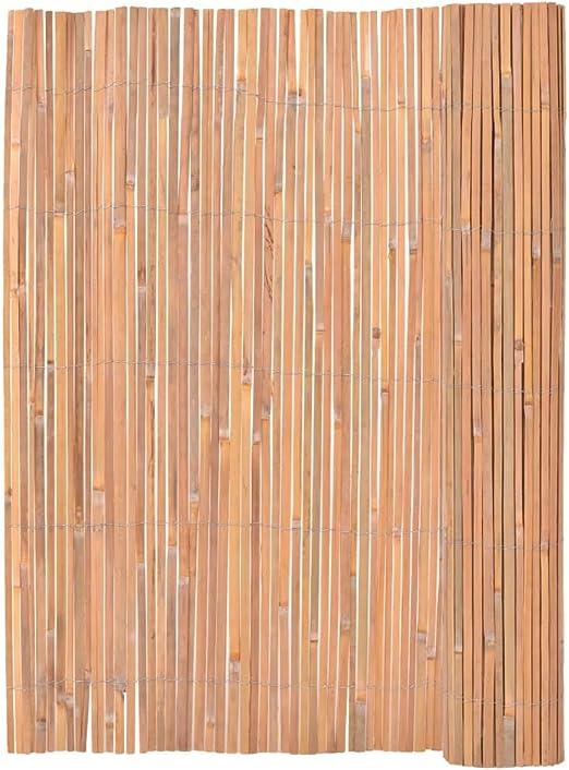 vidaXL Valla Cañizo de Bambú para Jardín Cerca de Ocultacion para Patio Terraza Vallado Cercado de Caña 125x400 cm: Amazon.es: Jardín