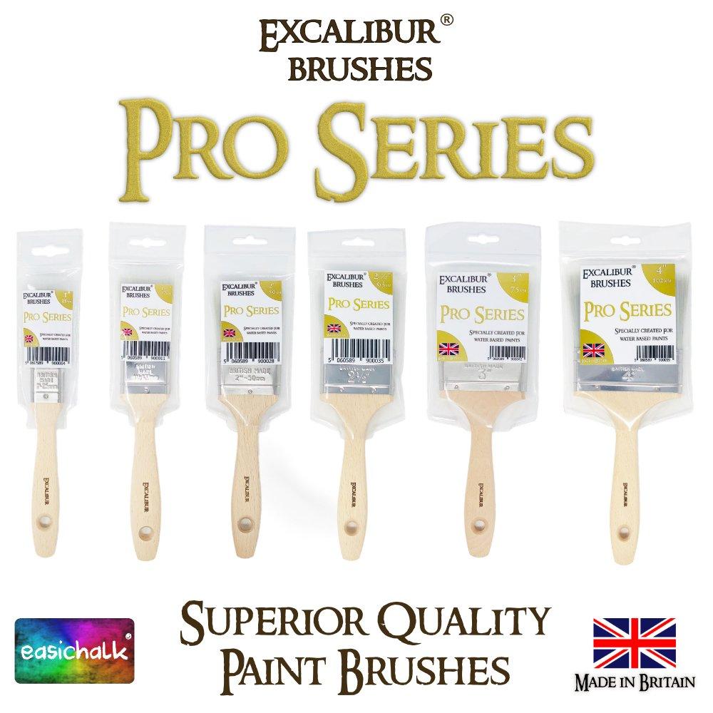63 mm Excalibur Pro Series 2 1//2 pincel de pintura para todo tipo de pintura a base de agua y pintura de tiza