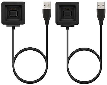 BlueBeach® 2 Piezas Reemplazo Fitbit Blaze USB Carga Cable Cargador Dock