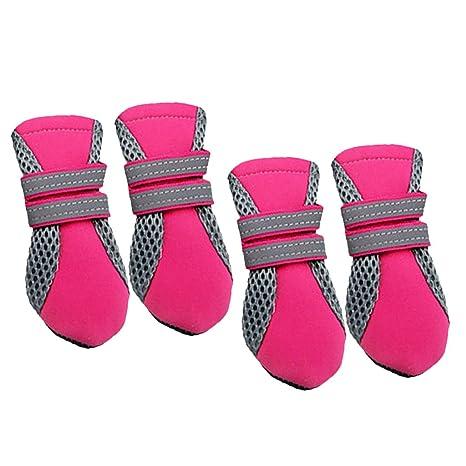 Chiot Chaussures pour Protection 4 Anti dérapant RoseM Animaux Chaussette Bottes Hydrofuge Chien qSpjULzMVG