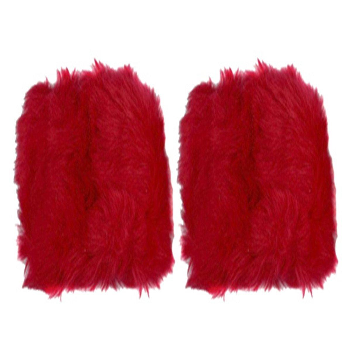 Posher TM FL6 Womens Winter Faux Fur Wrist Band Short Wrist Cuff Warmers